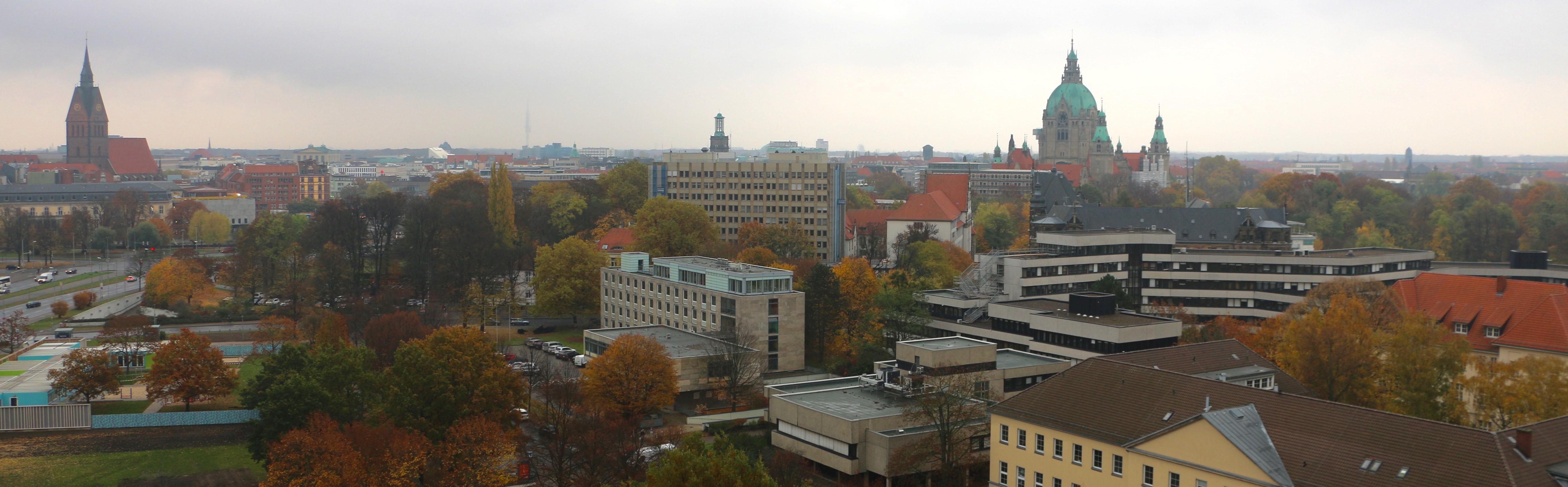 Über den Dächern von Hannover