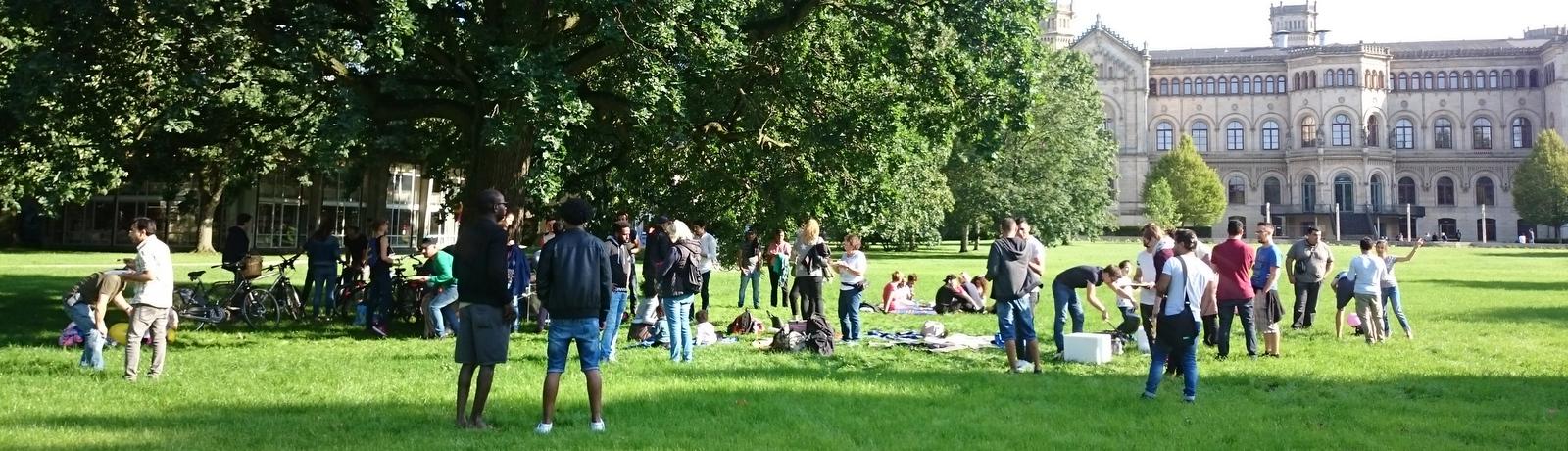 Picknick im Welfengarten